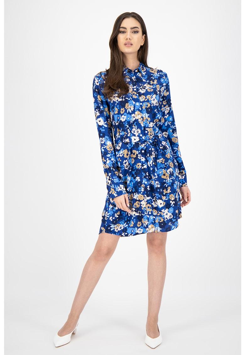 Rochie cu imprimeu floral si cordon de la Gant