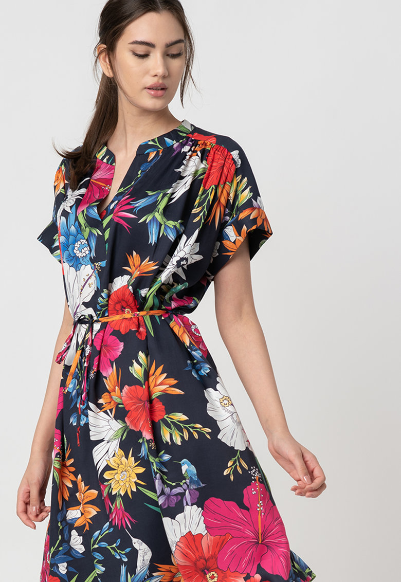 Rochie mini cu imprimeu floral