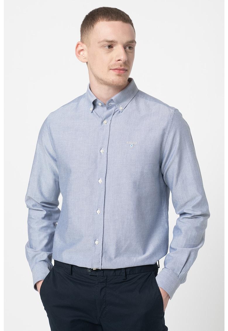 Camasa tailored fit cu broderie logo discreta