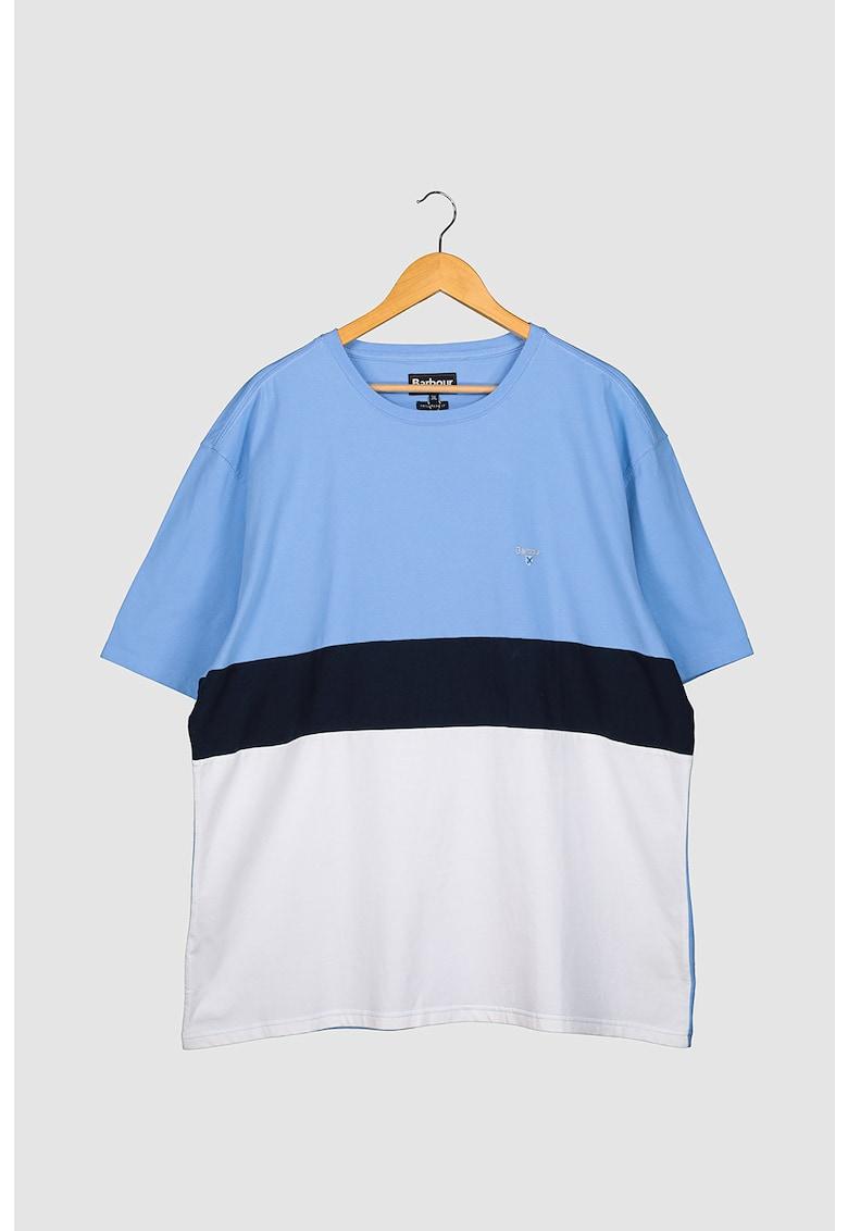 Tricou de bumbac cu decolteu la baza gatului poza fashiondays