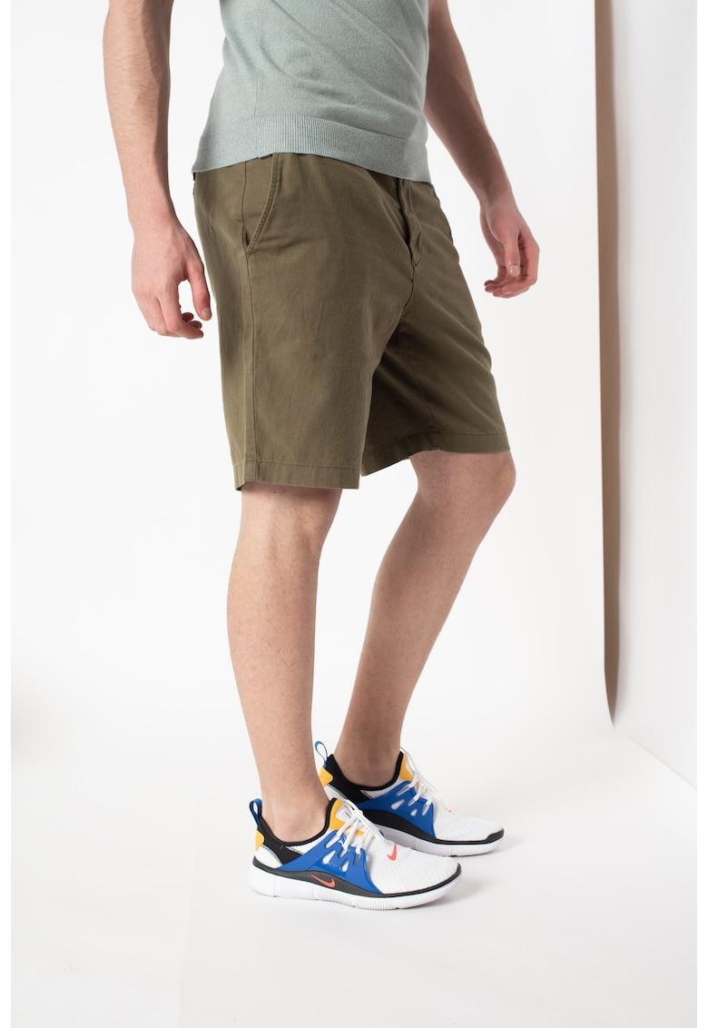 Pantaloni scurti chino din amestec de in - cu snur in talie