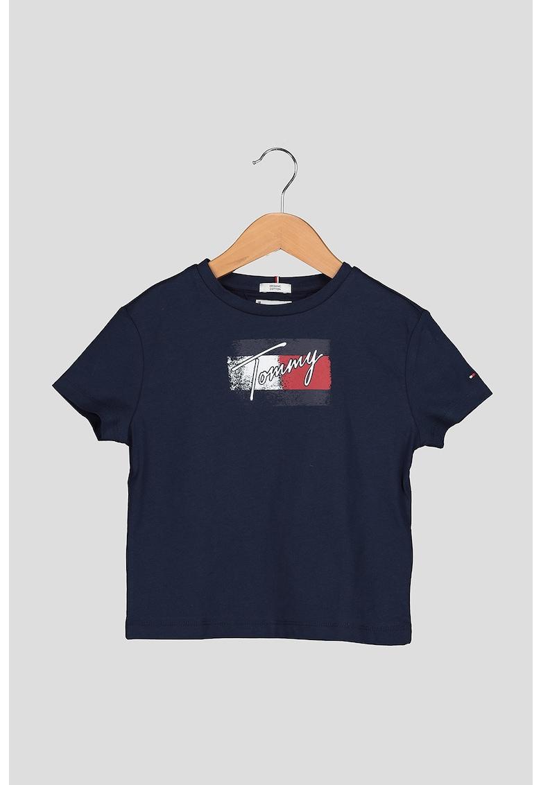 Tricou de bumbac organic cu logo 6 imagine fashiondays.ro Tommy Hilfiger
