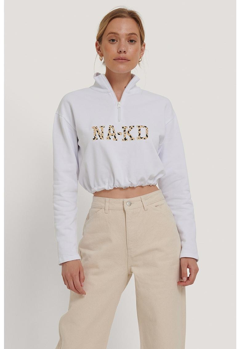 Bluza sport crop cu terminatie elastica de la NA-KD