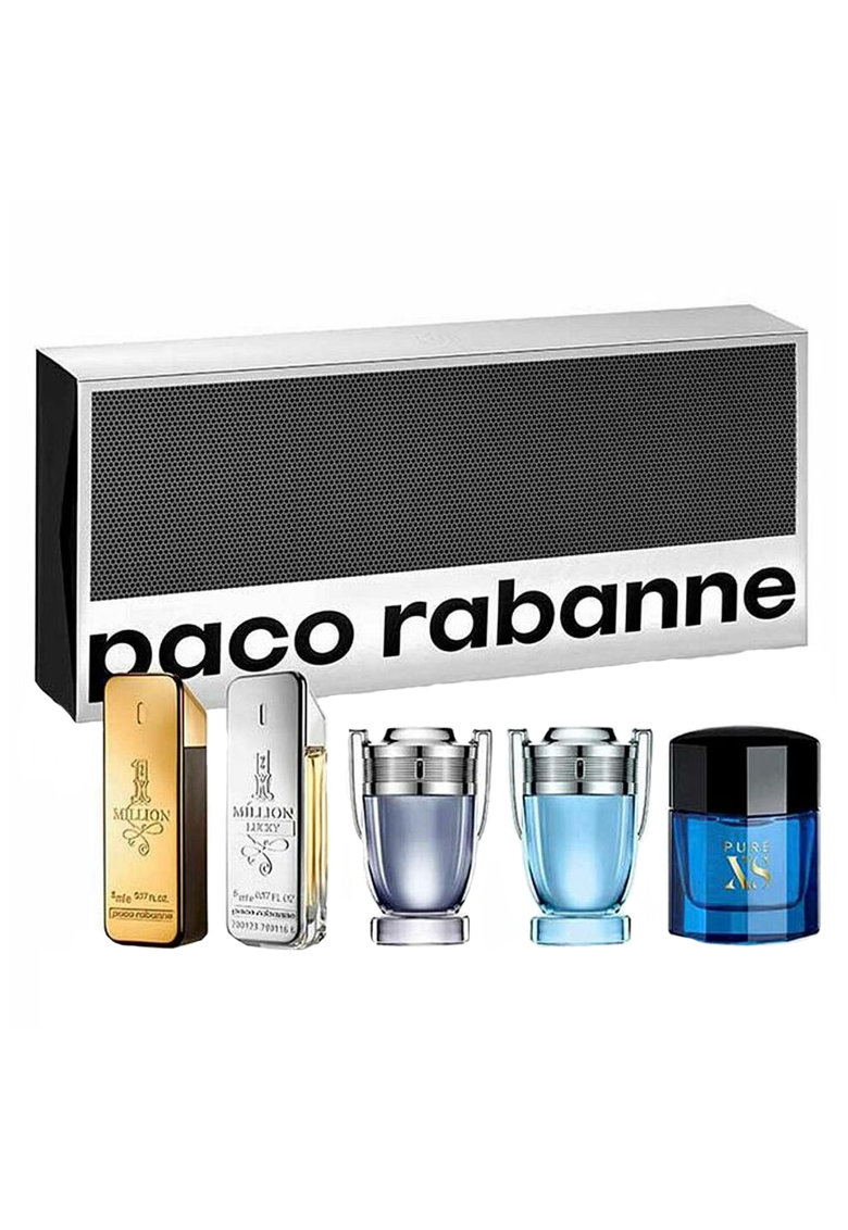 Paco Rabanne Set  Barbati: Apa de Toaleta - 1 Million - 5 ml + Apa de Toaleta 1 Million Lucky - 5 ml + Apa de Toaleta Invictus - 5 ml + Apa de Toaleta Invictus Aqua - 5 ml + Apa de Toaleta Pure XS - 6 ml de la FashionDays.ro