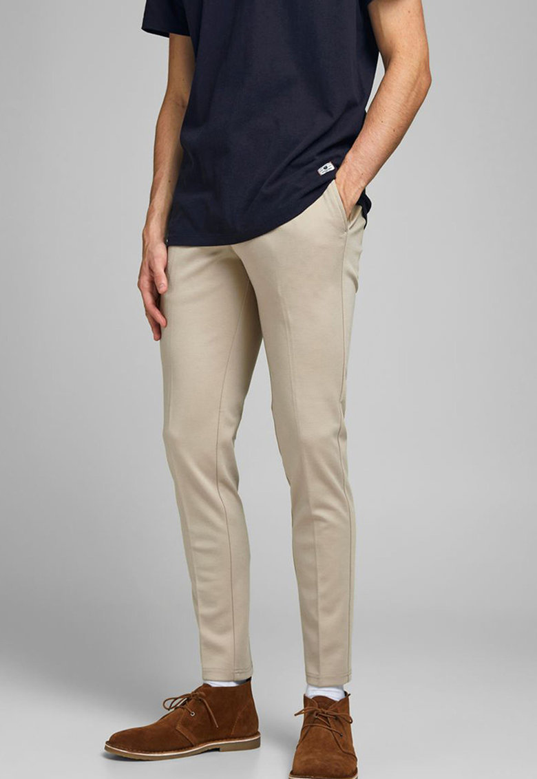 Pantaloni cu croiala conica si buzunare laterale imagine