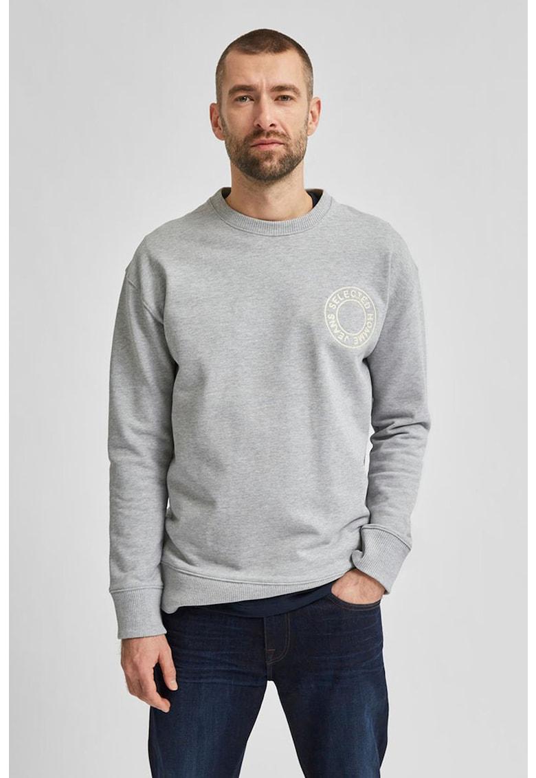 Bluza sport din bumbac organic cu logo brodat de la Selected Homme