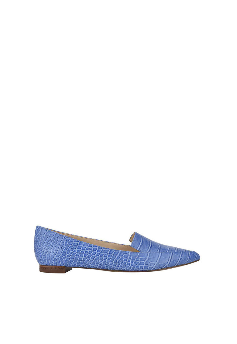NINE WEST Pantofi loafer cu varf ascutit si model piele de reptila Abay