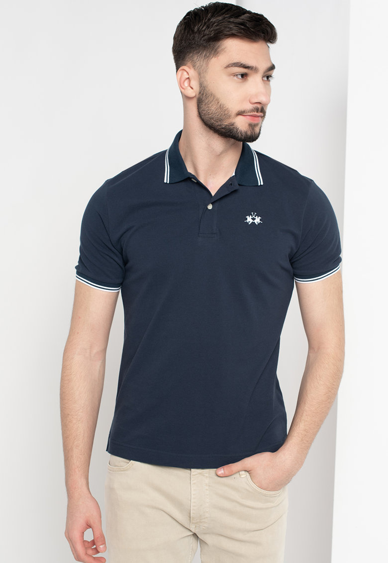 Tricou polo regular fit din bumbac