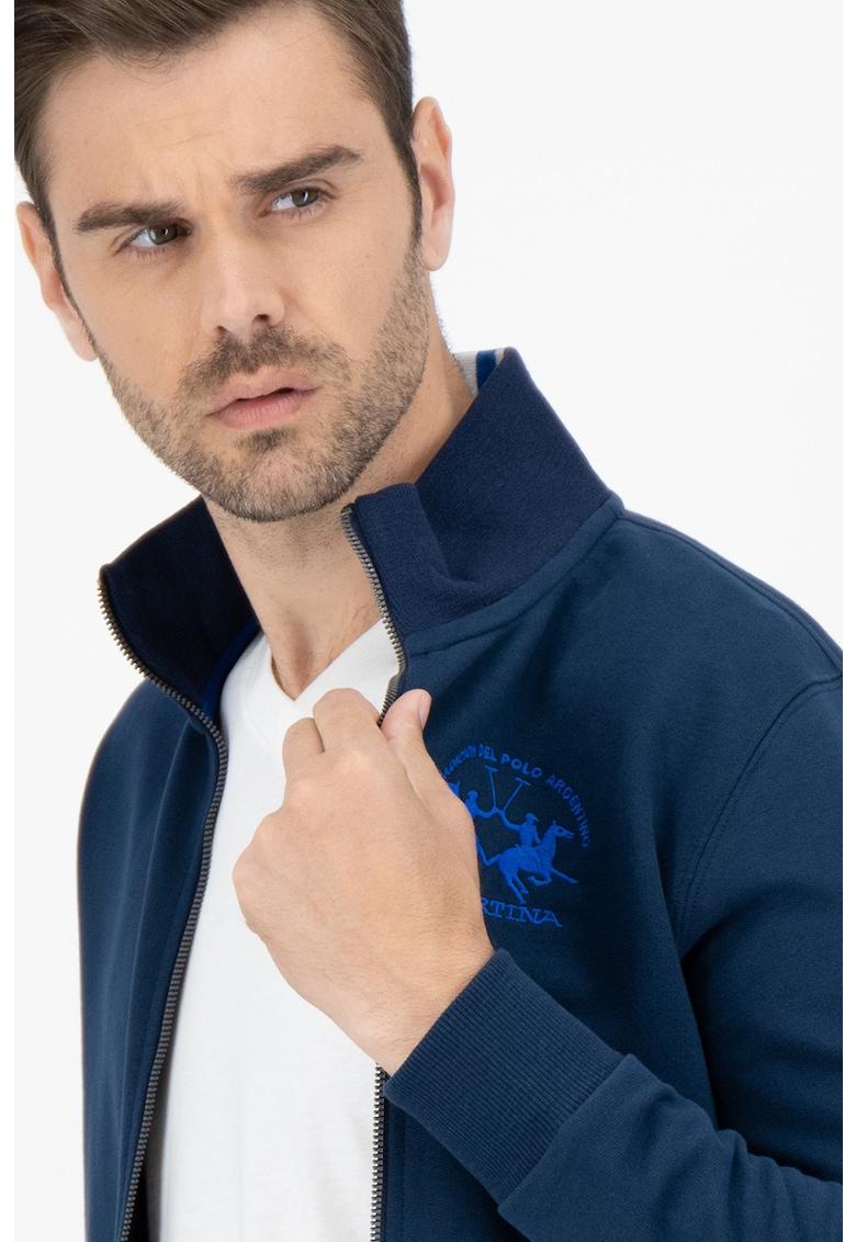 Bluza sport cu fermoar si logo