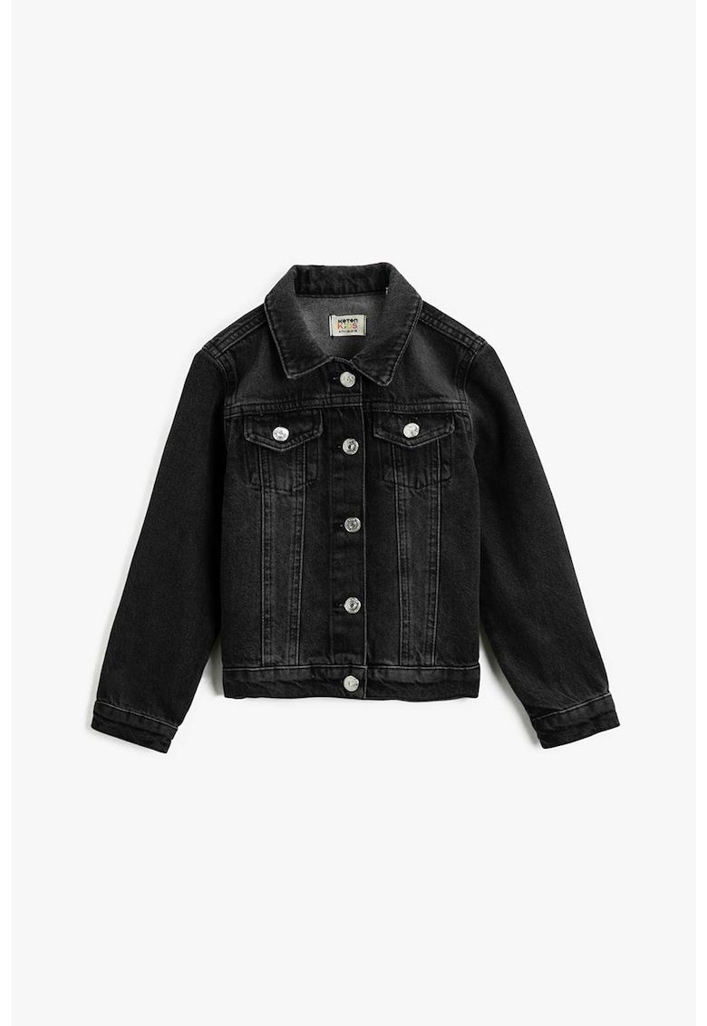 Jacheta din denim cu nasturi