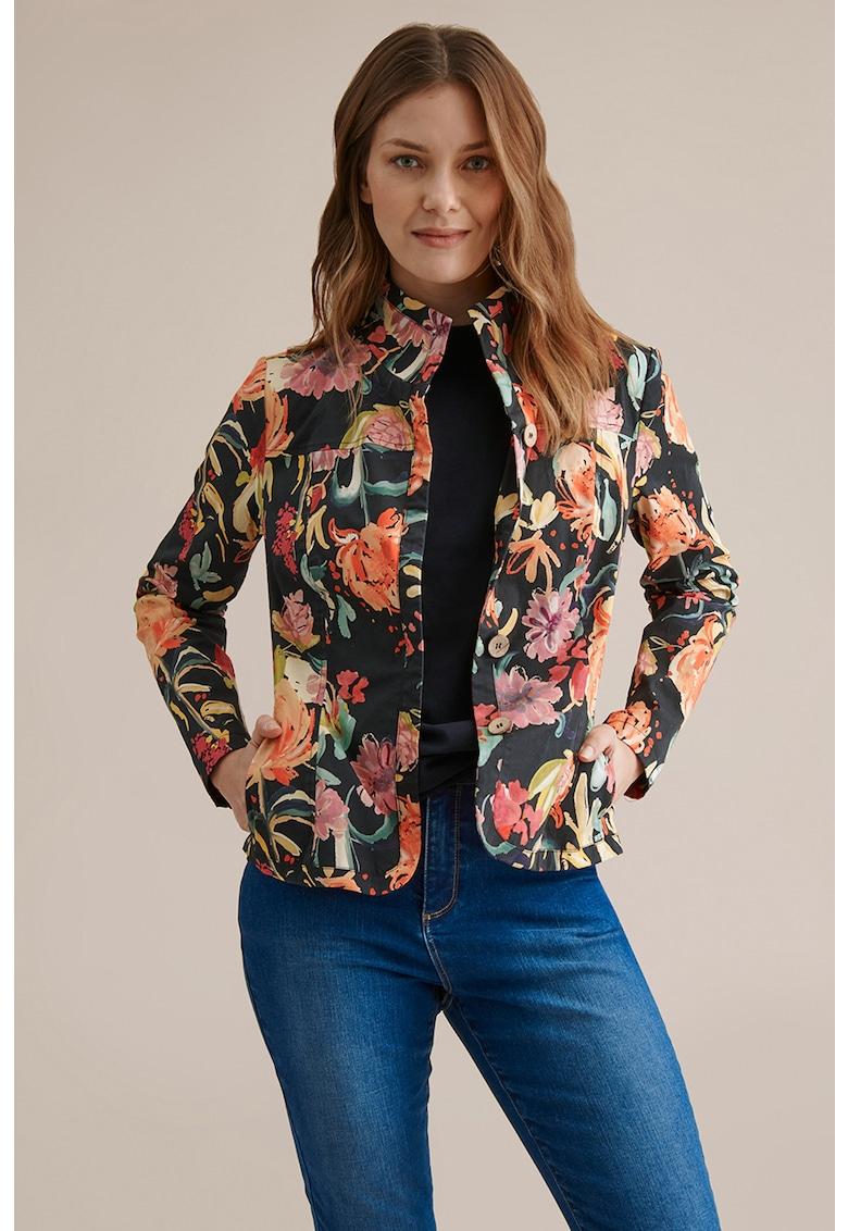 Jacheta cu model floral Amaranta