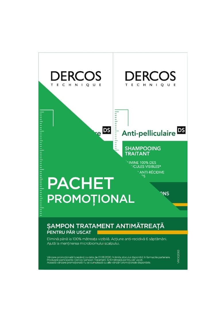 Vichy Pachet promotional: 2 x Sampon anti-matreata  Dercos Anti-Dandruff pentru scalp uscat - 200 ml