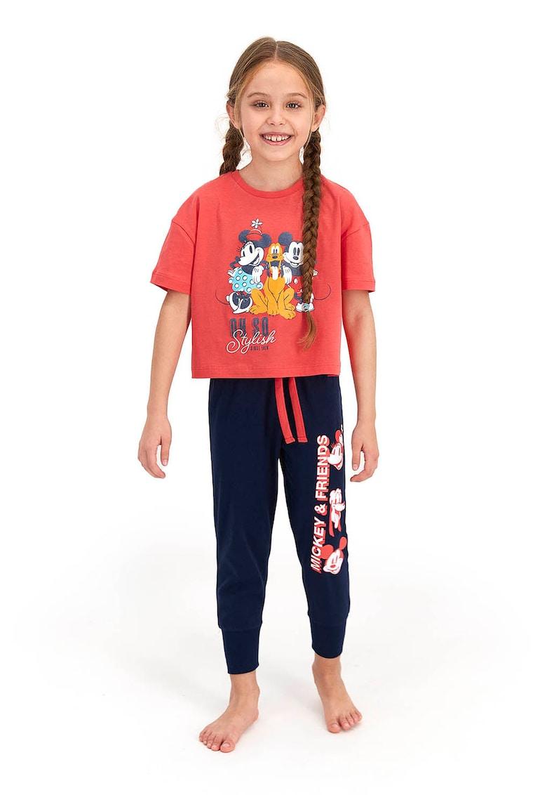 Pijama cu imprimeu si pantaloni lungi imagine fashiondays.ro 2021