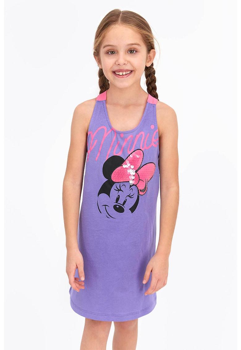Camasa de noapte cu imprimeu Minnie Mouse