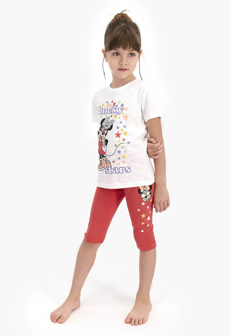 Pijama cu Minnie Mouse si pantaloni scurti imagine fashiondays.ro 2021