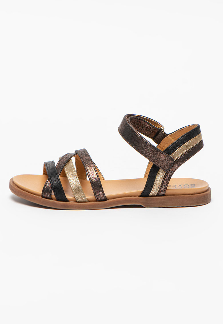 Sandale cu barete multiple si velcro