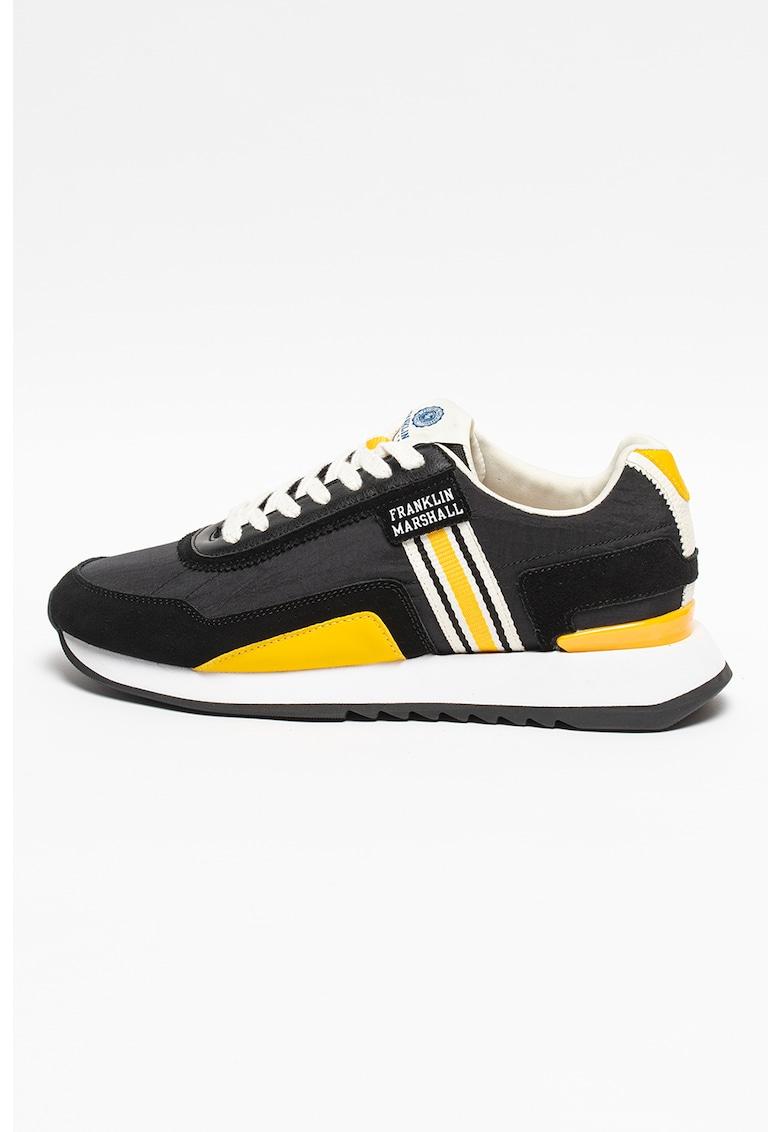 Pantofi sport cu model colorblock si garnituri de piele intoarsa Epsilon Bowl