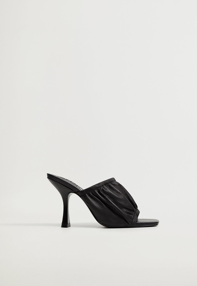 Papuci de piele cu toc Ruff imagine