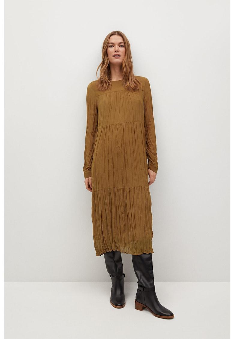Rochie midi cu aspect sifonat Ara