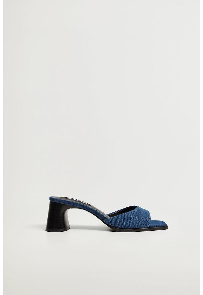 Papuci cu toc masiv Naomi de la Mango