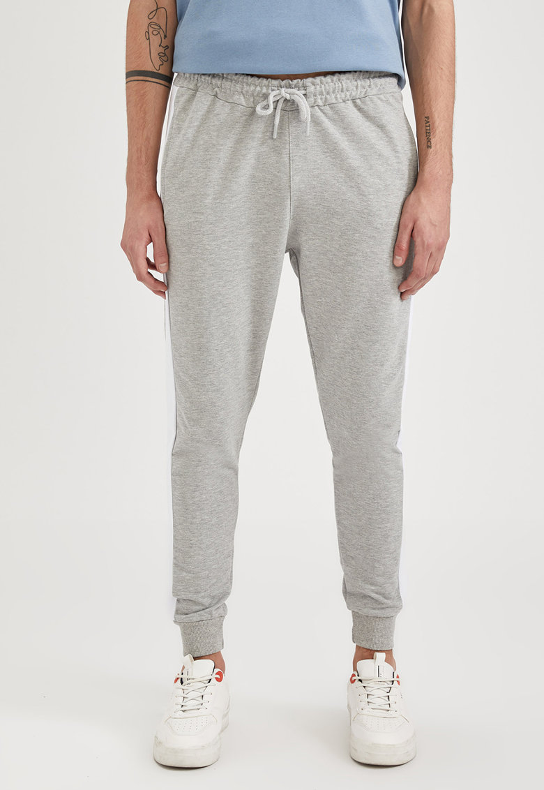 DeFacto Pantaloni sport cu benzi laterale contrastante