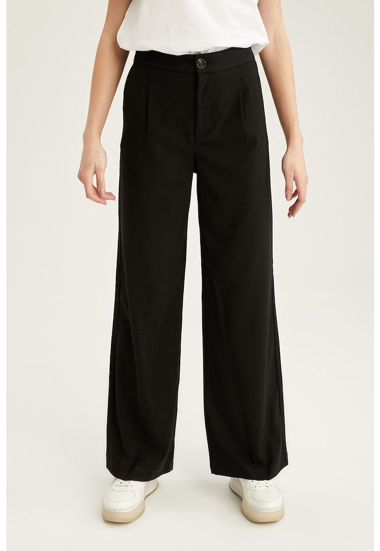 Pantaloni cu croiala ampla si talie inalta imagine fashiondays.ro