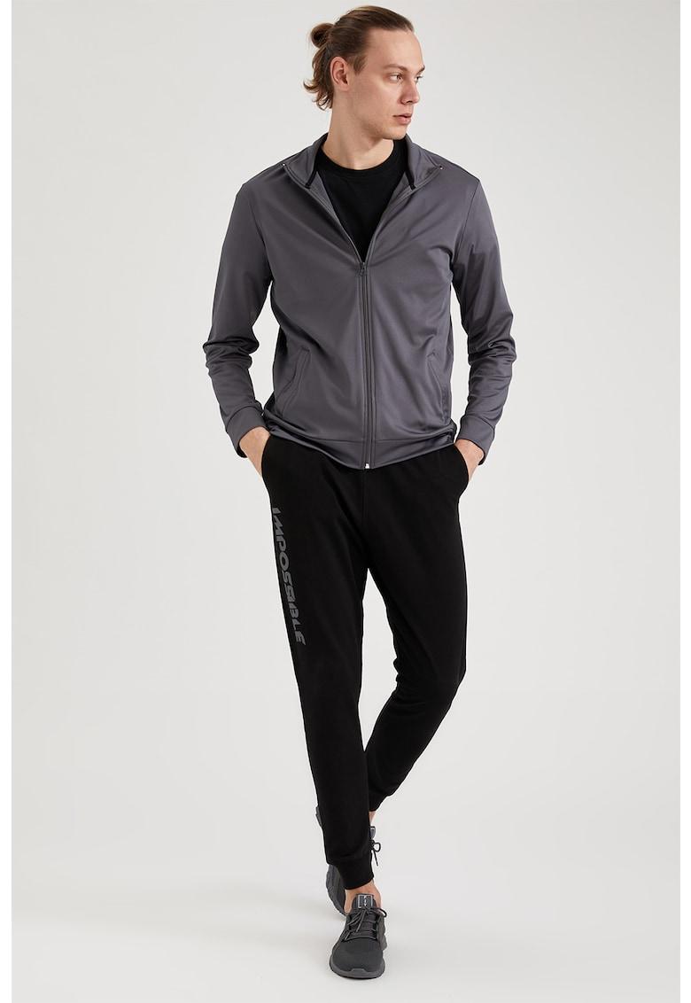 Bluza sport cu fermoar si buzunare poza fashiondays