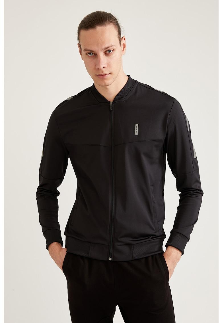 Bluza sport slim fit cu fermoar de la DeFacto
