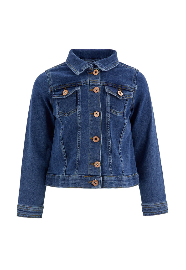 Jacheta din denim cu buzunare pe piept de la DeFacto