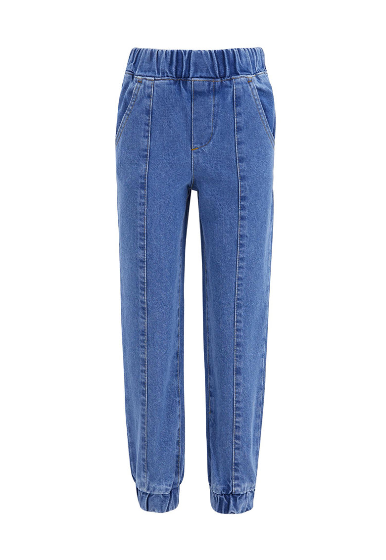 Pantaloni jogger cu talie inalta de la DeFacto