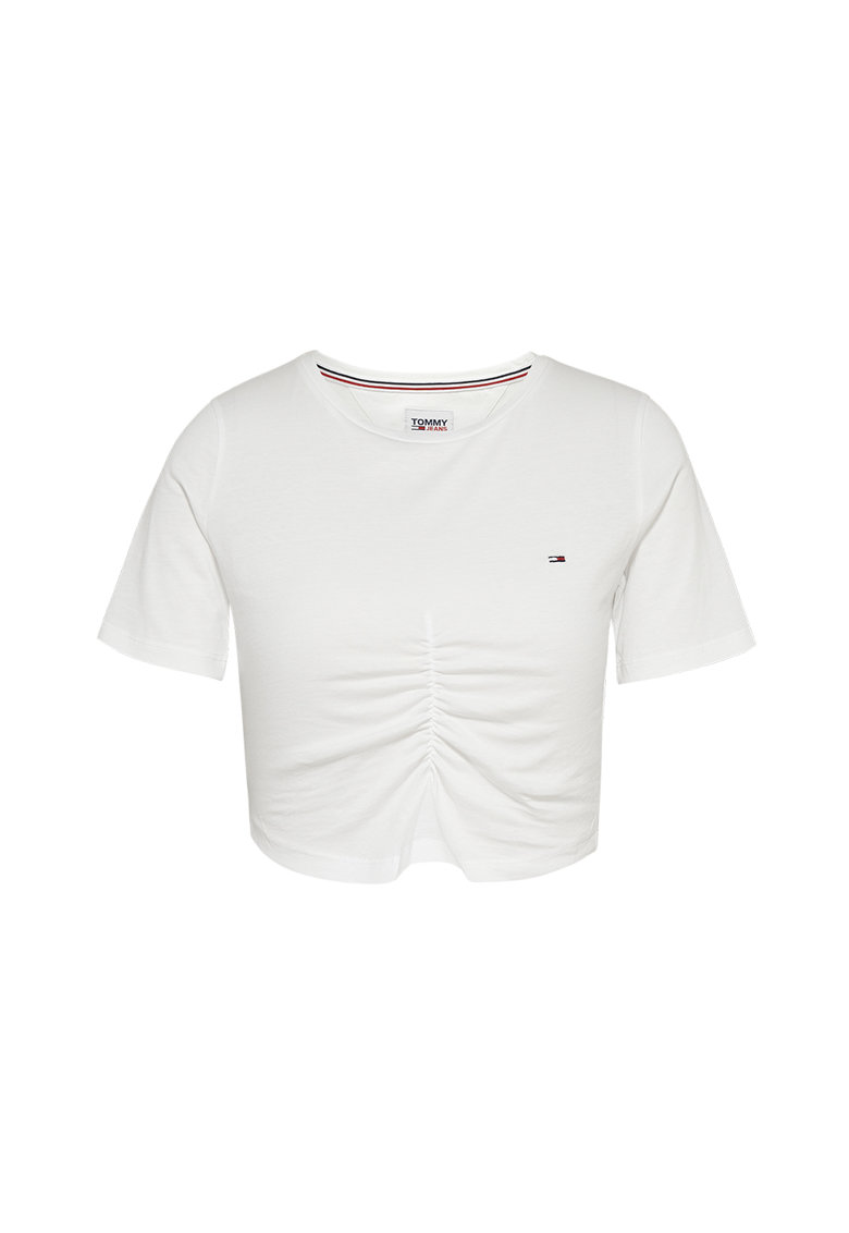 Tricou crop din bumbac organic Tommy Jeans fashiondays.ro