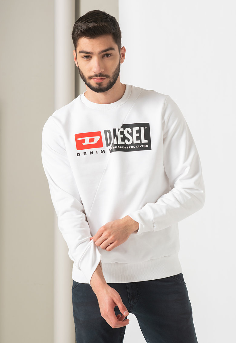 Bluza sport cu imprimeu logo S-Girk-Cuty de la Diesel