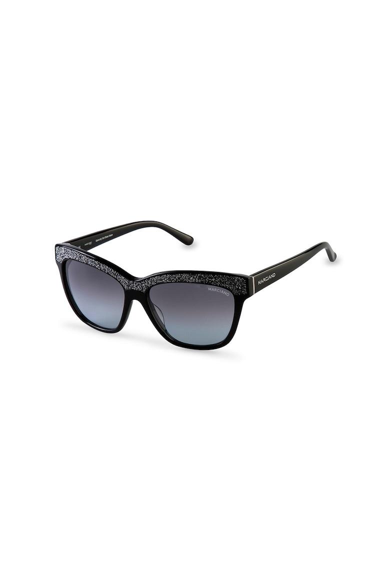 Ochelari de soare ovali cu lentile in degrade poza fashiondays