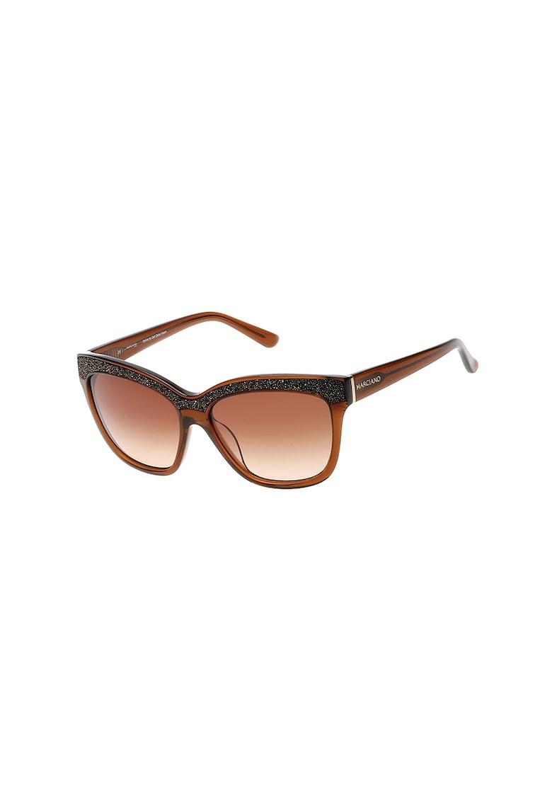 Ochelari de soare cat-eye cu detaliu stralucitor