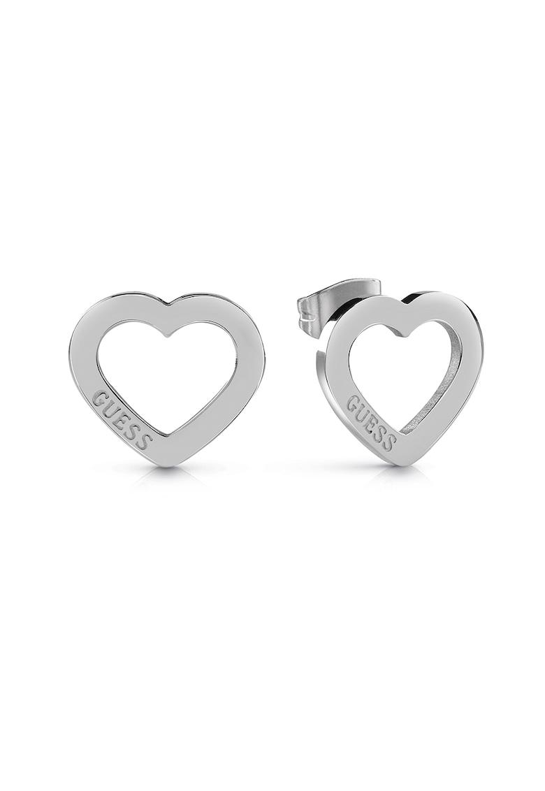 Cercei in forma de inima - cu logo imagine fashiondays.ro