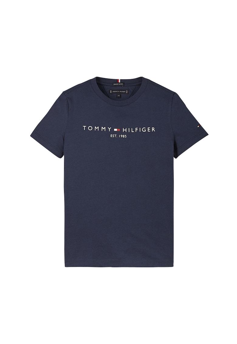 Tricou de bumbac organic cu imprimeu logo poza fashiondays