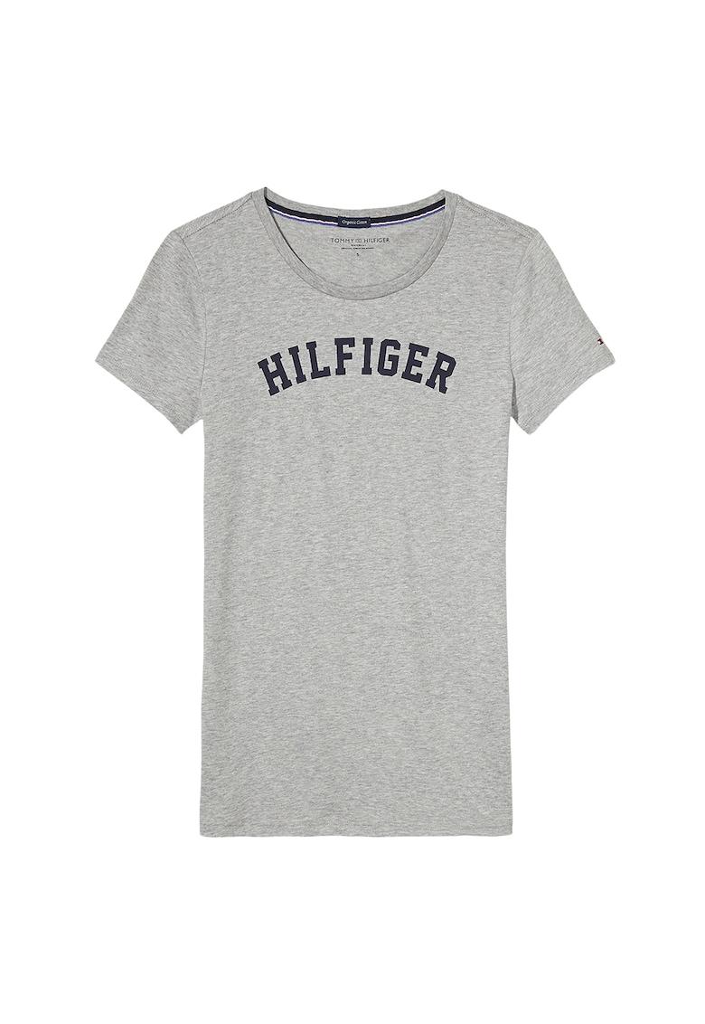 Tricou de casa -de bumbac organic cu imprimeu logo fashiondays.ro