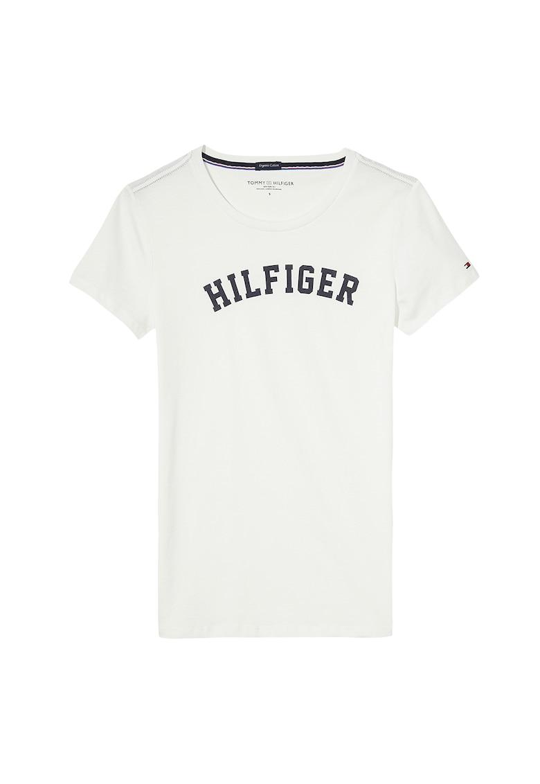 Tricou de casa -de bumbac organic cu imprimeu logo poza fashiondays