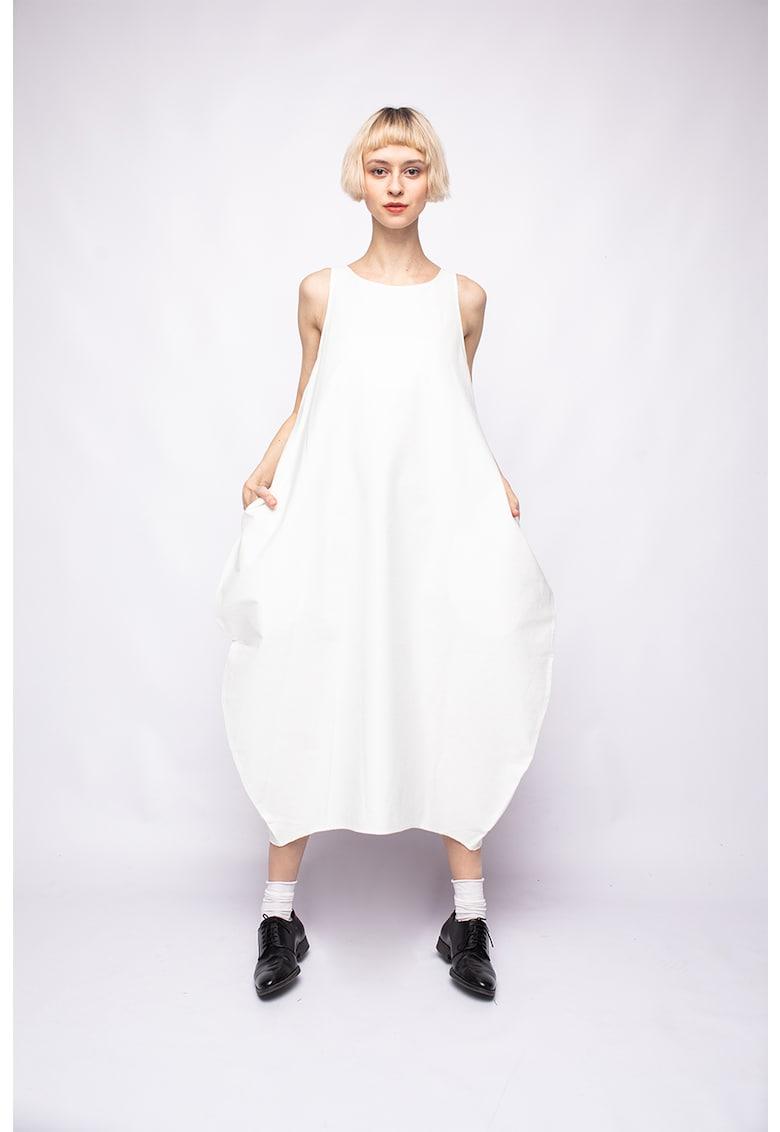 Rochie cu buzunare laterale - fara maneci poza fashiondays
