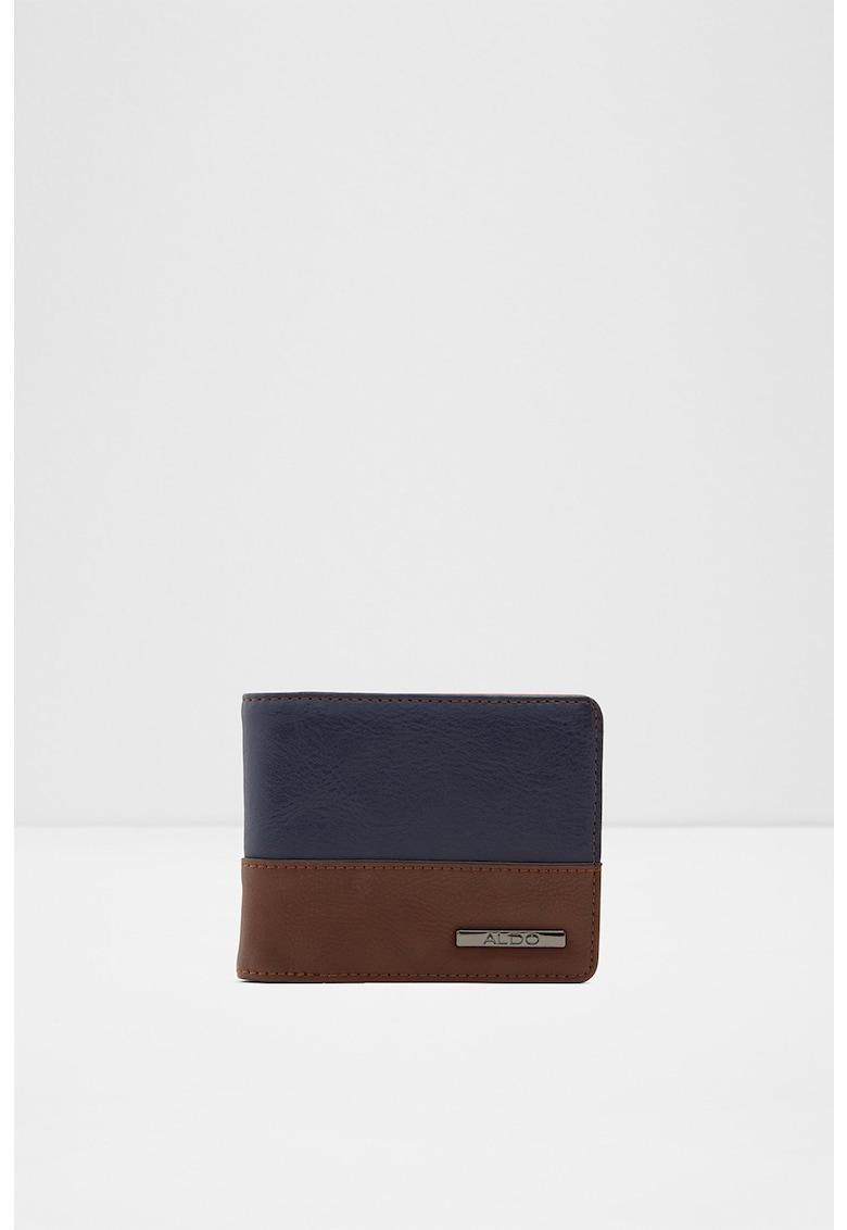 Portofel pliabil de piele ecologica cu design colorblock Aissa imagine fashiondays.ro
