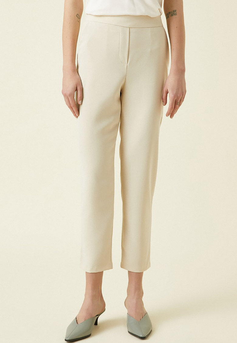 Pantaloni crop cu talie elastica de la KOTON