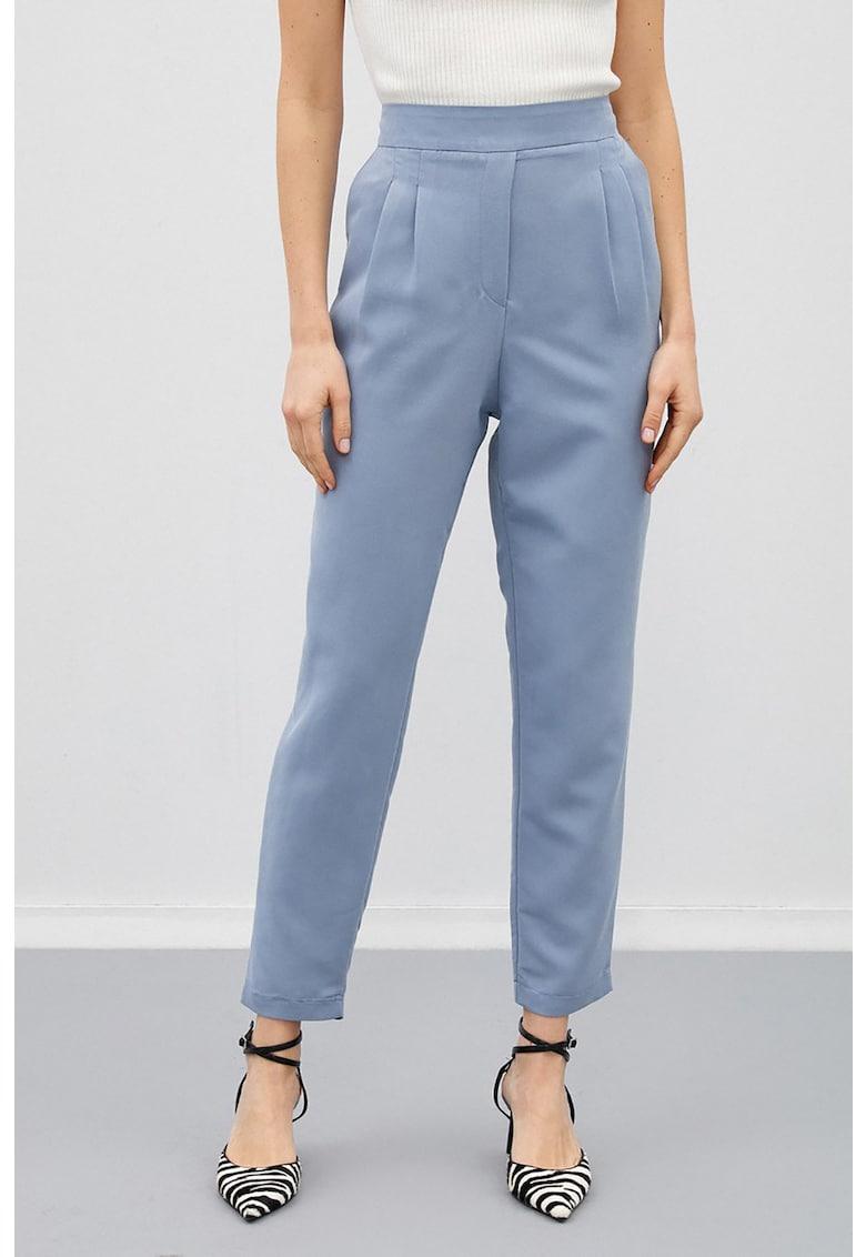 Pantaloni din amestec de modal - cu talie inalta de la KOTON