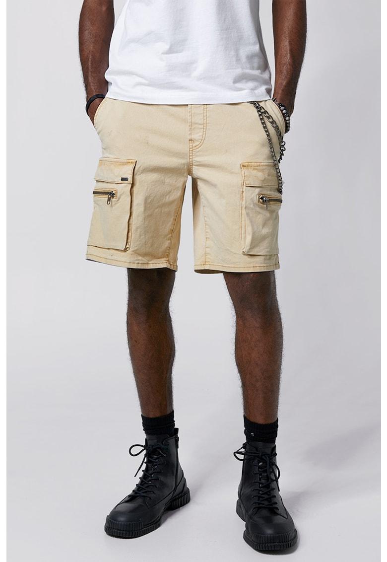 Pantaloni scurti cargo cu buzunare oblice