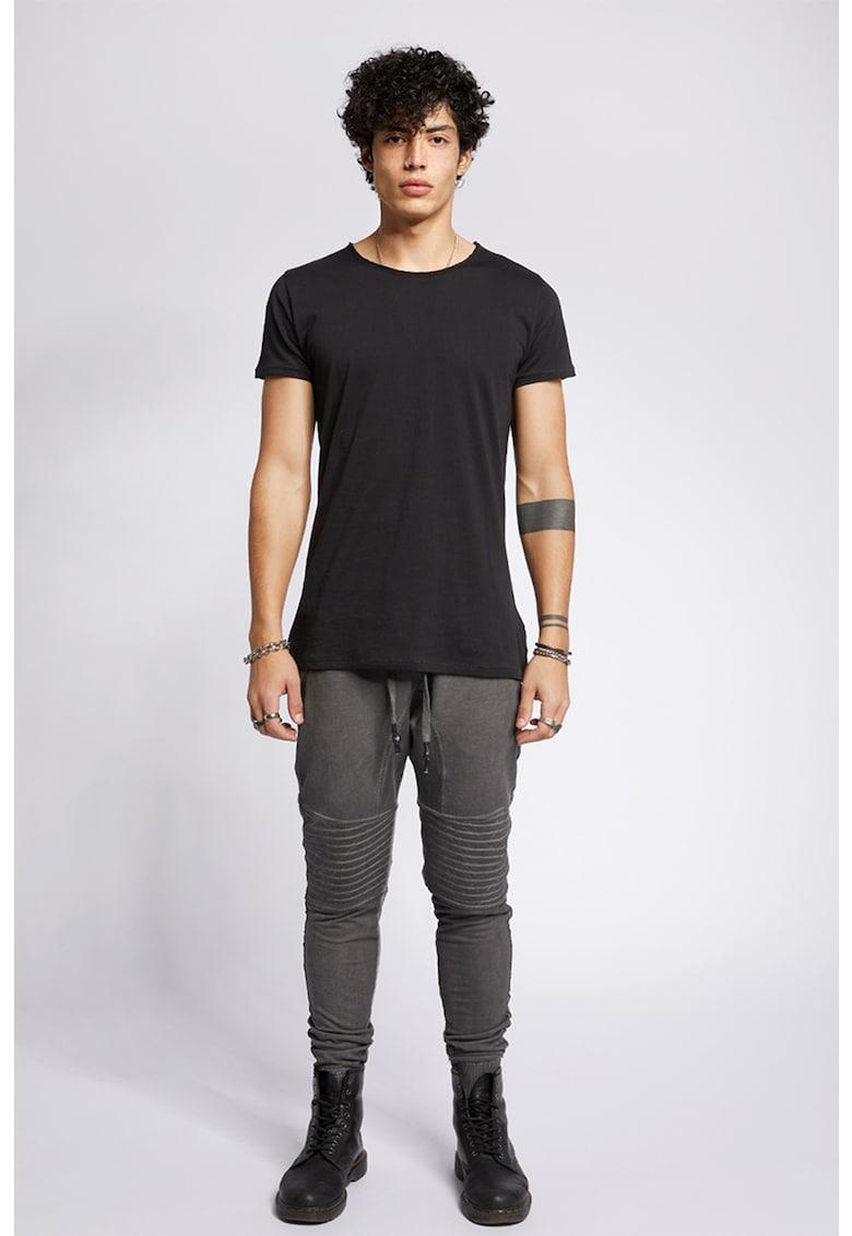Pantaloni jogger cu segmente articulate la nivelul genunchilor Trevor
