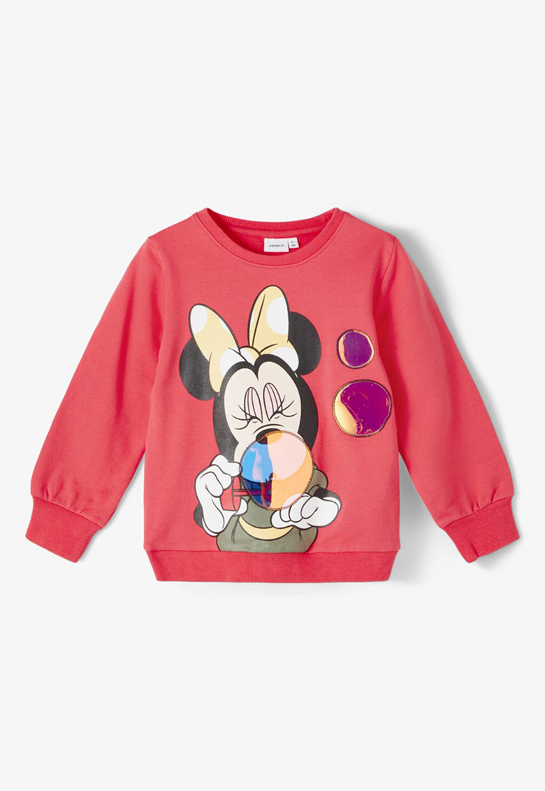 Bluza sport cu decolteu la baza gatului si imprimeu Minnie Mouse imagine fashiondays.ro NAME IT