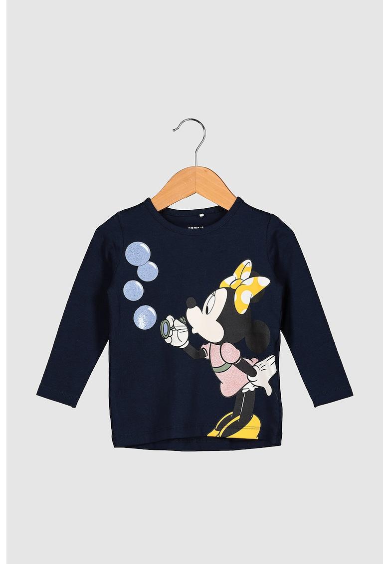 Bluza cu imprimeu stralucitor cu Minnie Mouse imagine fashiondays.ro NAME IT