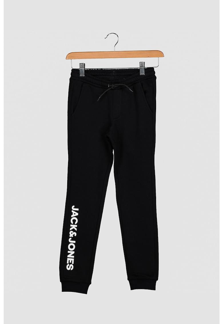 Pantaloni sport cu imprimeu logo Jack&Jones fashiondays.ro