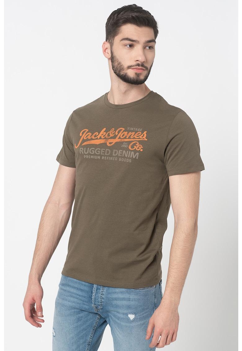 Tricou regular fit cu imprimeu logo Blustar poza fashiondays