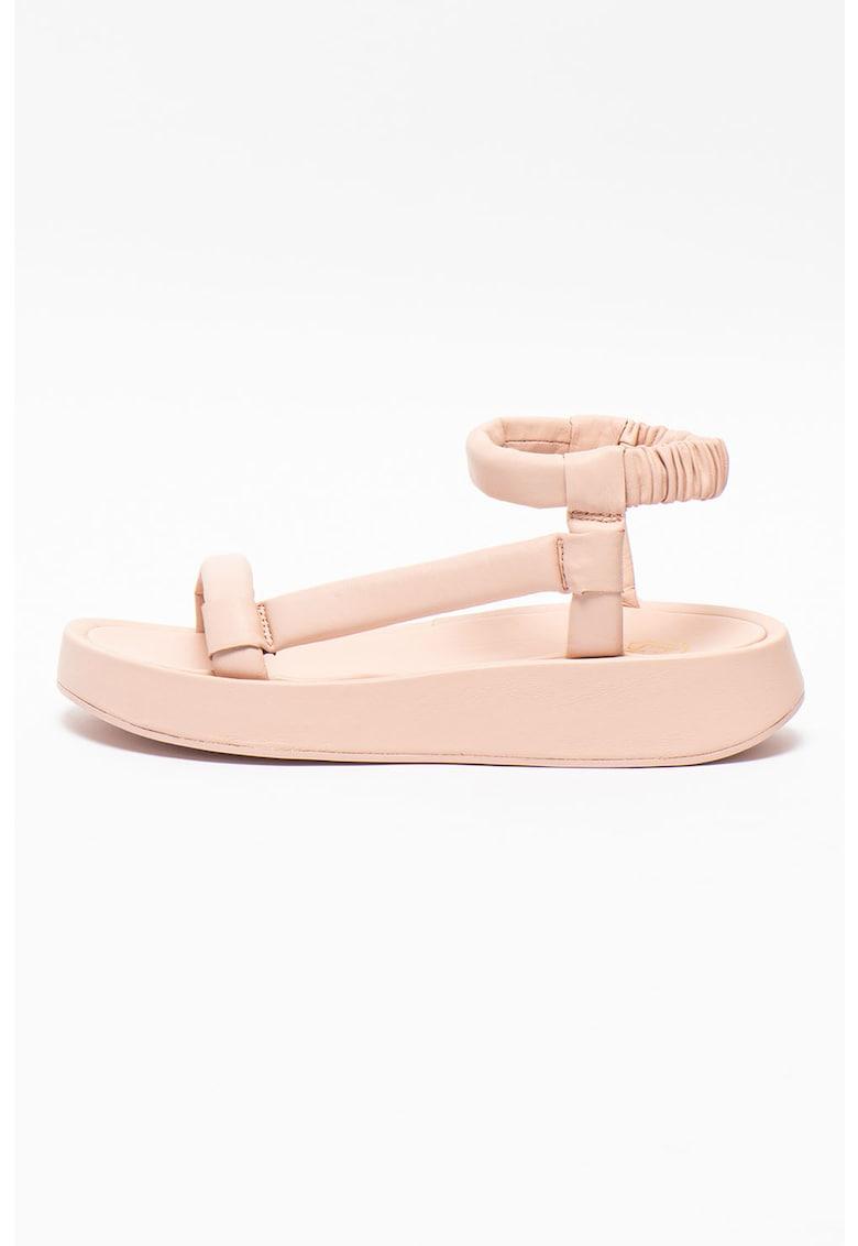 Sandale din piele cu bareta pe glezna Victoria