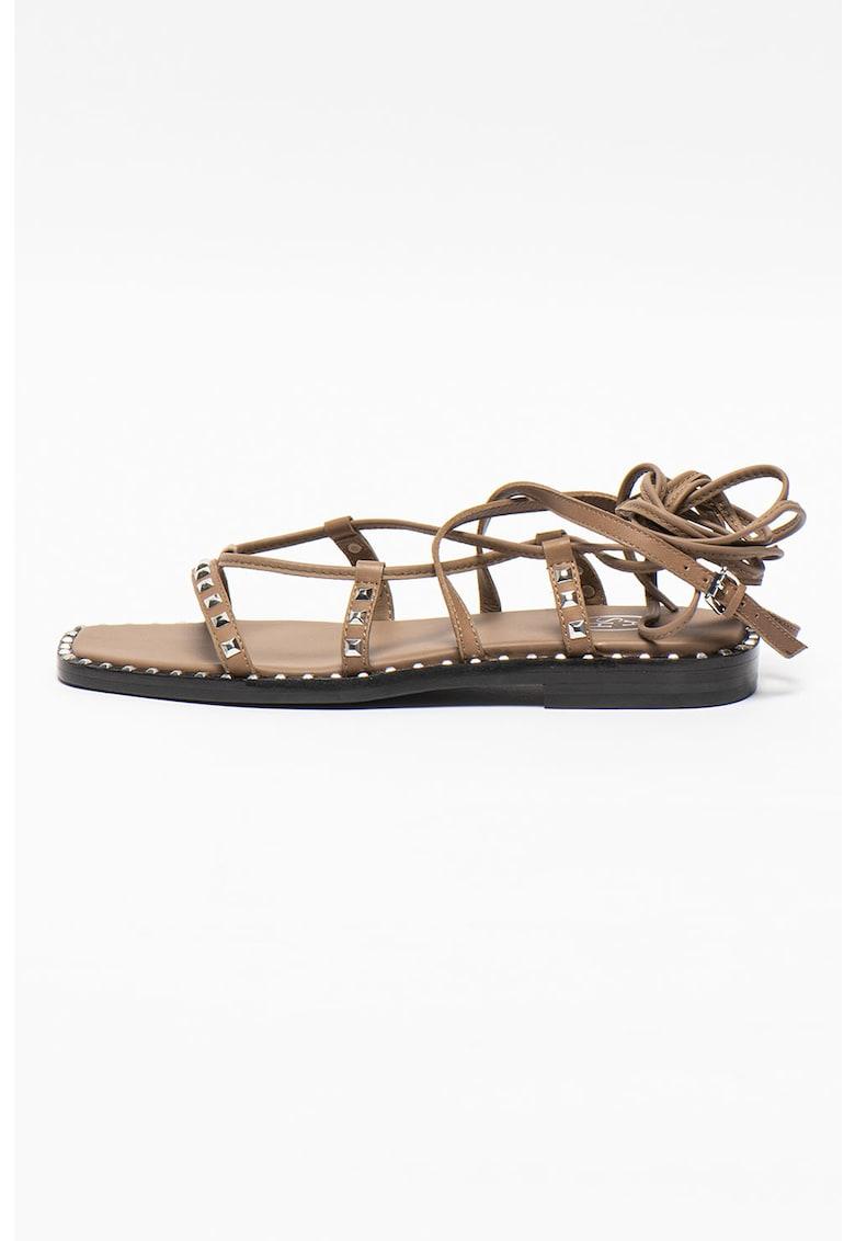 Sandale din piele cu model petrecut Mauritius